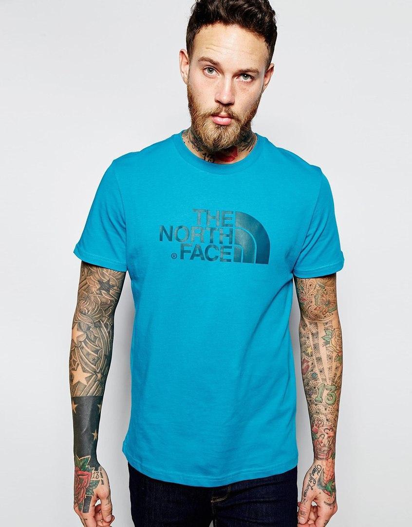 Мужская Футболка The Norh Face синего цвета
