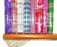 Пленка прозрачная с рисунком для цветов и подарков 1 рулон 5 м