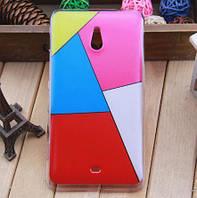 Силиконовый бампер чехол с рисунком для Microsoft Lumia 1320