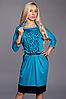 Красивое нарядное женское платье с перфорацией
