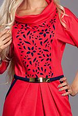 Красивое нарядное трикотажное женское платье с перфорацией 48-52, фото 2
