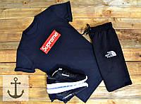 Мужская футболка Supreme (Суприм) черная