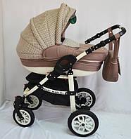 """Детская универсальная коляска 2 в 1 """"Baby Marlen"""" 31-011 бежевая"""