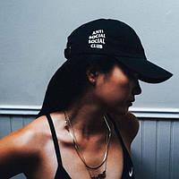 Кепка чёрная | Anti Social Social Club лого вышивка