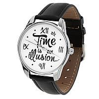 """Часы оригинальные на подарок """"Иллюзия времени"""""""