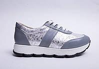 Кроссовки №370-2  серый, фото 1