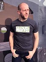 Футболка мужская  Marvel зеленый , темно-серая, мужские футболки