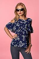 Стильная женская блуза из структурированного шифона