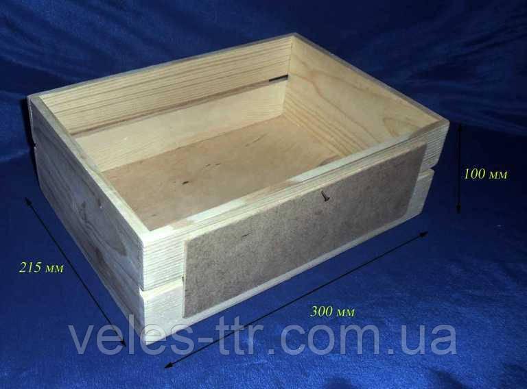 Ящик прямоугольный 30х21,5х10 см дерево заготовка для декора
