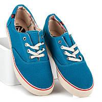 be60005ce202 Синие джинсовые женские кеды на грубой подошве New Collection Kylia