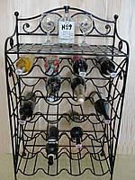 Подставка-стеллаж  для вина кованая  103-2 , фото 1