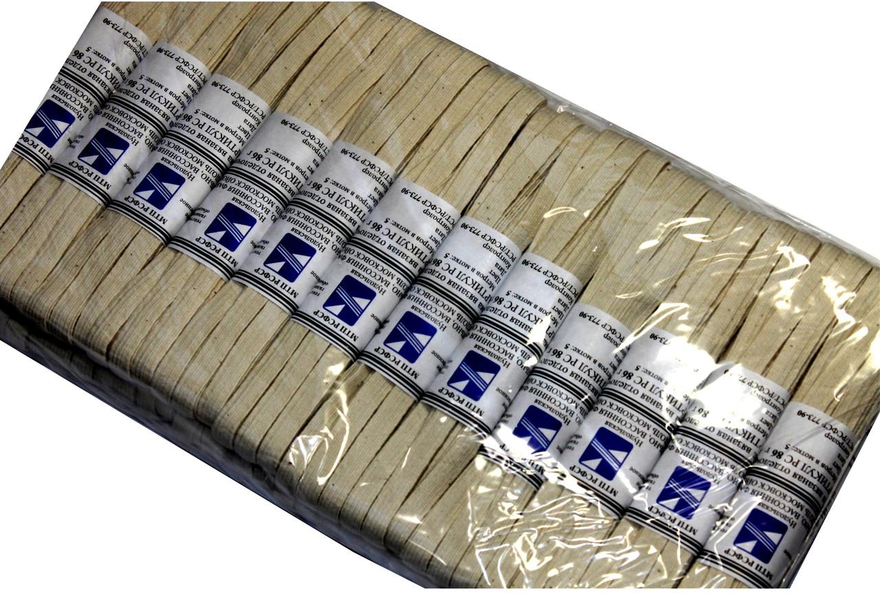 Резинки бельевые (5m/24шт) бежевые, тесьма эластичная хлопок 100%