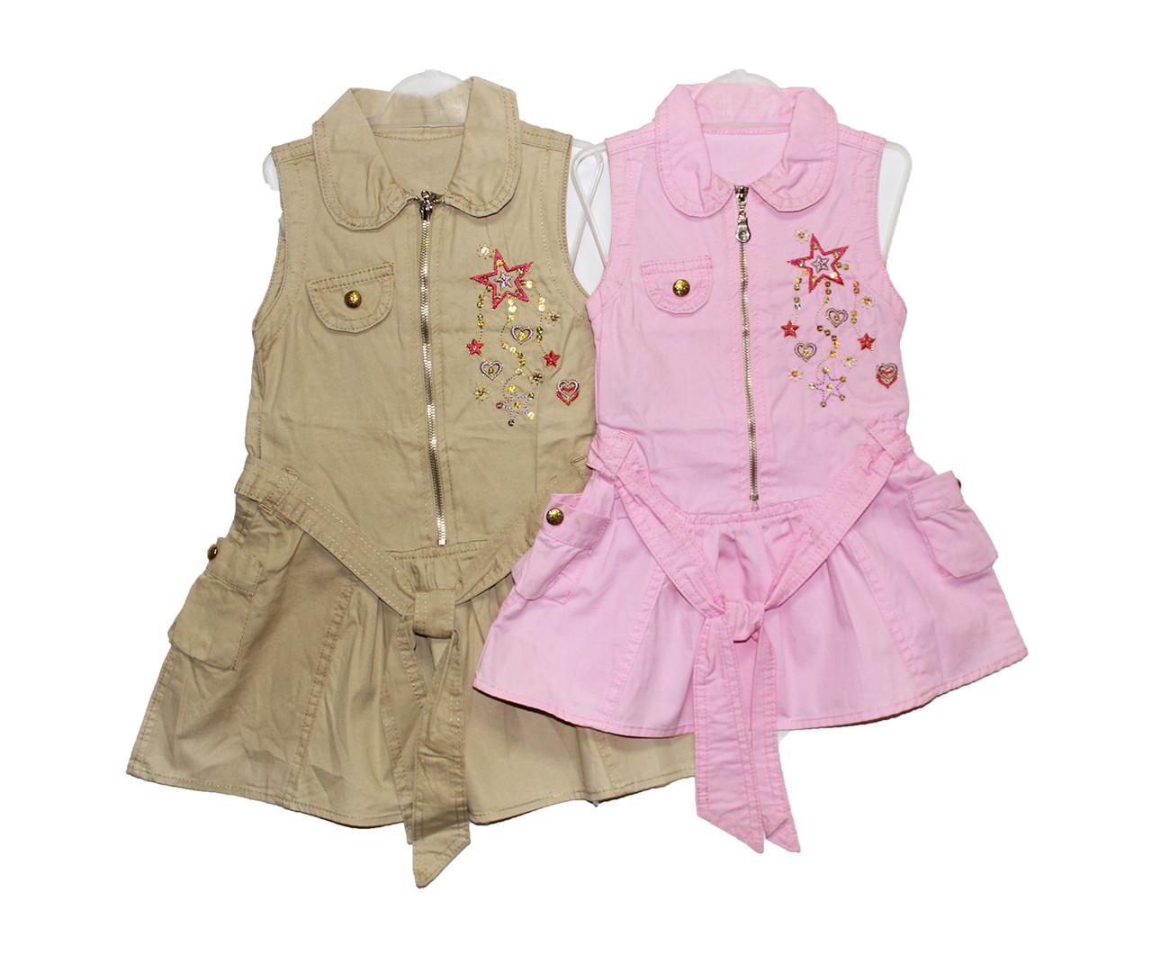 Платья детское с бантиком на лето #752