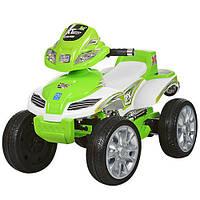 Детский квадроцикл M 0417 E-5 колеса EVA зеленый