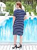 """Модное платье в полоску """"Джессика"""" большого размера, фото 3"""