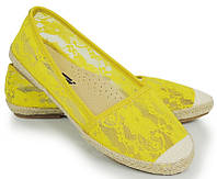 Летние балетки жёлтого цвета