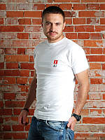 Футболка мужская Ali лого  белая, мужские футболки