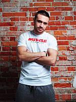 Футболка мужская Muscle republic  белая, мужские футболки