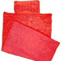 Пляжный коврик с подголовником 80х150 Велюр красный