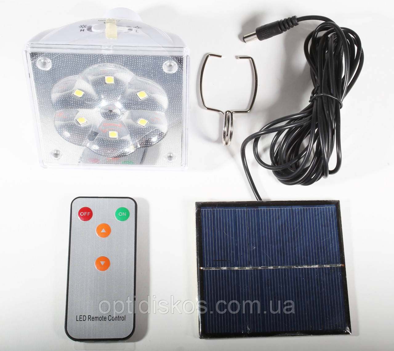 Светильник кемпинговый + зарядка от солнечной батареи + пульт, KingBlaze, GD-5017
