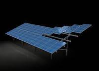 Система крепления 10 солнечных модулей наземная