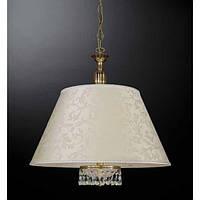 Люстра подвесная RECCAGNI ANGELO L 6503/60 золото/стекло/ткань/хрусталь