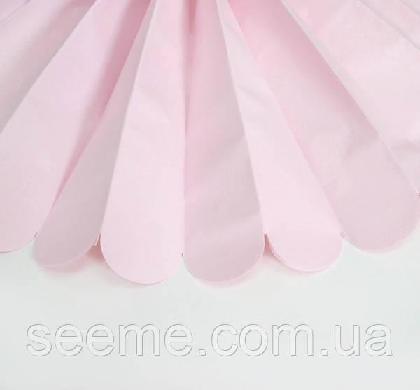 Бумажные помпоны из тишью «Blush», диаметр 35 см.