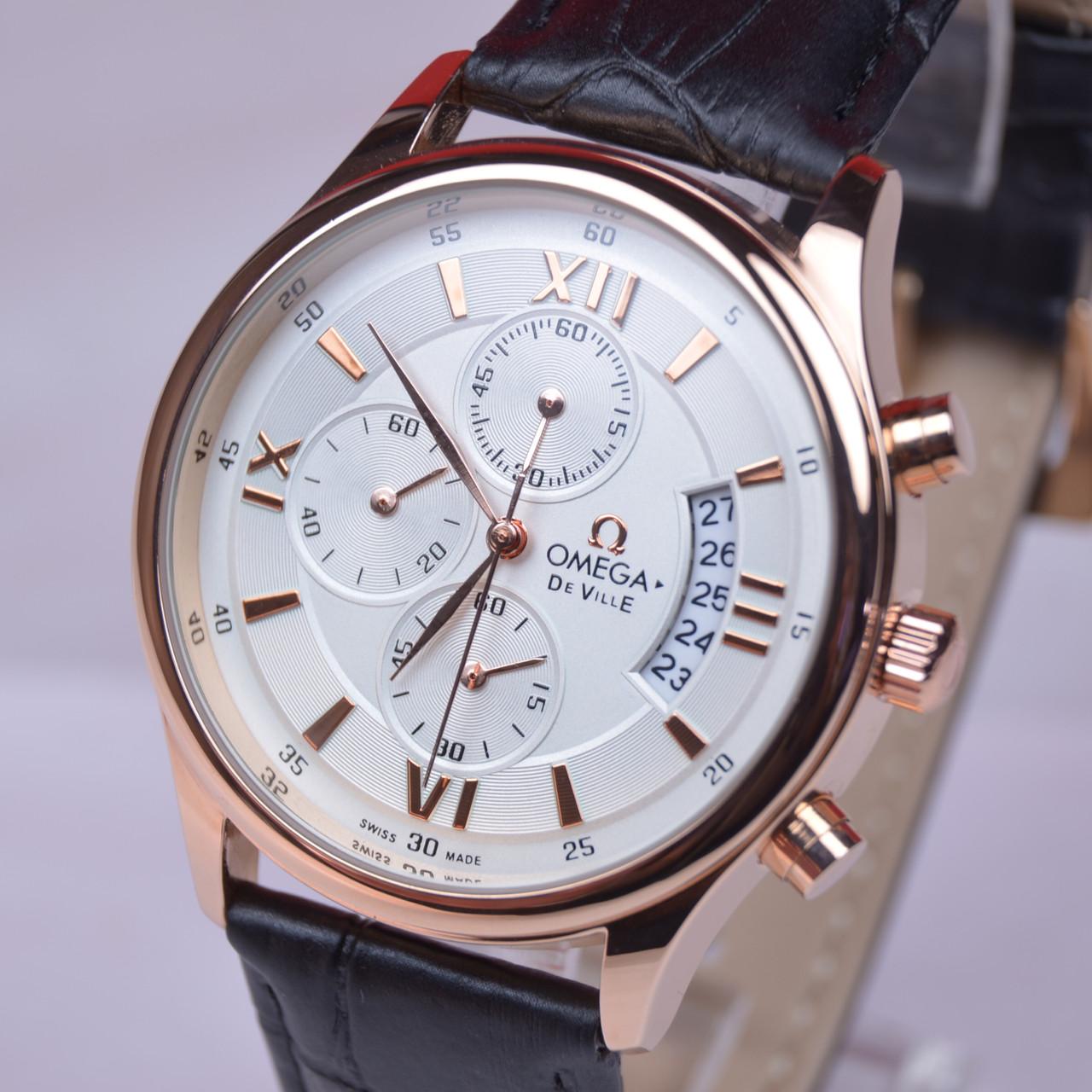 Мужские наручные часы OMEG-A De Velle копия хронограф все циферблаты рабочие, фото 1