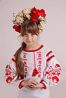 Сорочка дитяча МВ-10 голубий, льон 70%