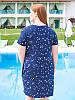 """Женское платье большого размера """"Зирка 2"""" с украшением-брошкой, фото 2"""