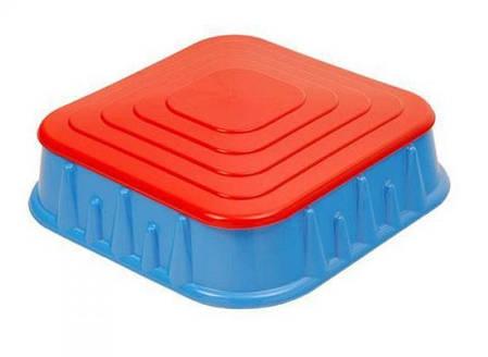 Детская Песочница 04-516 квадратная с крышкой 60л, фото 2