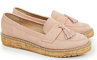 Туфли лоферы женские из кож.зам