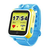 Детские умные gps часы сенсор с камерой и 3G Smart baby watch Q200 Android blue Гарантия 12 мес
