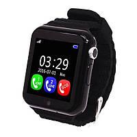 Детские умные часы+Smart watch V7K, влагозащита Bluetooth, камера, музыка, карта памяти! Гарантия 12 мес. Черные