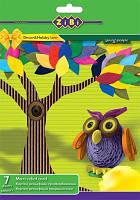 Цветной картон А4 гофрированный 7 цветов, 7 листов, матовый, ZіBі