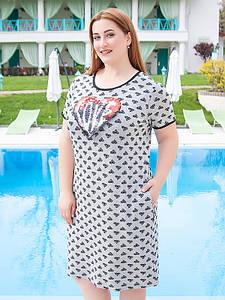 """Платье женское """"Люба"""" большого размера (до 70 и более)"""