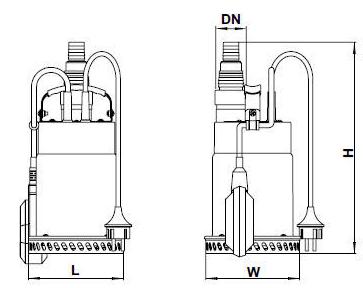 Бытовой дренажный насос Aquatica 773112 размеры