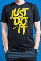 "Мужская футболка с логотипом Nike ""Just do it"" Black/Yellow"