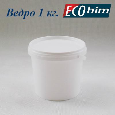 Высокопрочное полипропиленовое ведро 1 литр