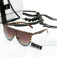 Женские очки брендовый Polaroid Celine Селин коричневые с синим