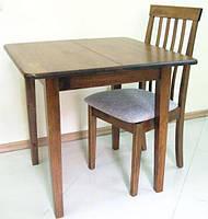Раскладной деревянный обеденный стол EXT 3232 орех античный