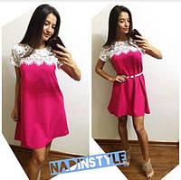Женское красивое платье с кружевом (расцветки)