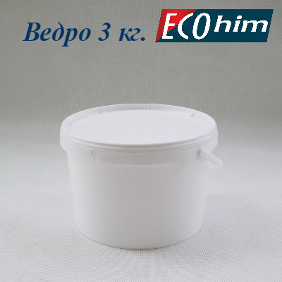 Высокопрочное полипропиленовое ведро 3 литра