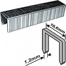 Скобы закаленные Профи, широкие прямоугольные (тип 140), ширина 10.6 мм, 4 мм 500 шт.