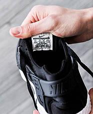 Мужские кроссовки в стиле Nike Air Huarache Black White черно-белые, фото 3
