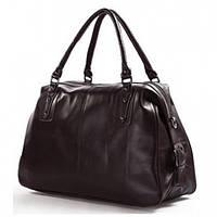 Мужская дорожная сумка из натуральной кожи (тревелбег) Jasper&Maine в коричневом цвете (7071B)