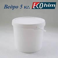 Высокопрочное полипропиленовое ведро 5 литров