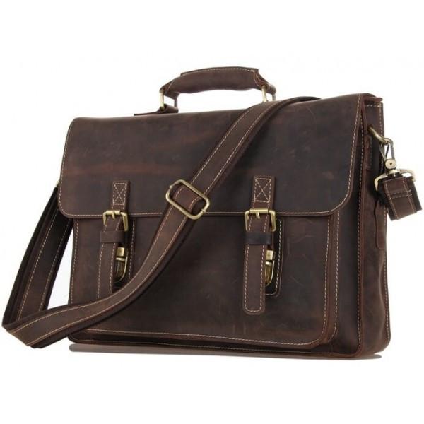 Мужской деловой кожаный портфель TIDING BAG 7205R