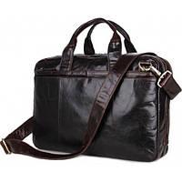 Деловая мужская Сумка TIDING BAG из 100% натуральной кожи в темно коричневом цвете (7092-3C)