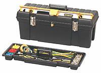 """Ящик для инструмента 26"""", профессиональный пластмассовый с отсеком для хранения уровня,STANLEY 1-92-850."""